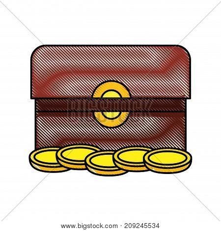 treasure chest box present gift jesus christmas vector illustration