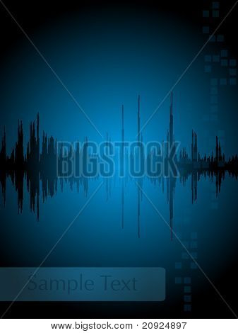abstract blue linear gradient background, vector illustration