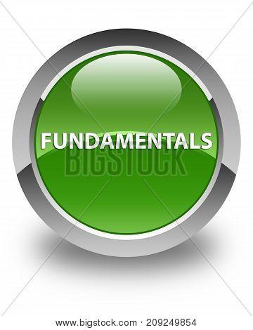 Fundamentals Glossy Soft Green Round Button