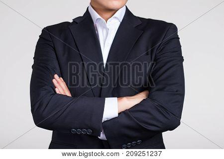 A confident posture of a business man