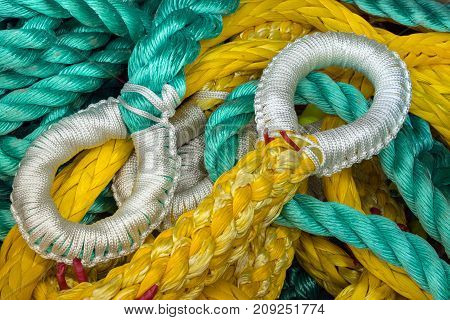 Cord loops that will hold heavy fishing nets