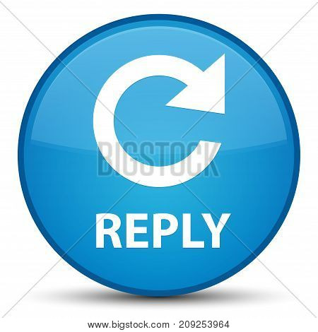 Reply (rotate Arrow Icon) Special Cyan Blue Round Button