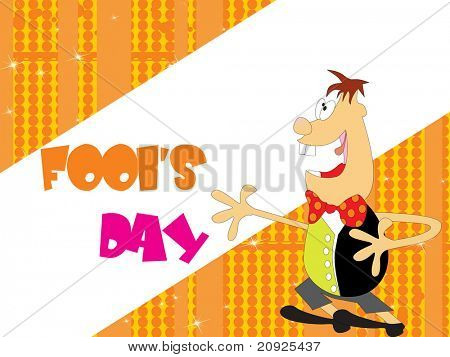 brown dotted fools day background with jester