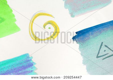 abstract color background, made of intersecting geometric figures, on white background