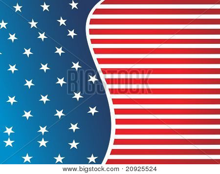 american flag background, vector wallpaper