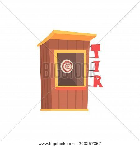 Shooting gallery booth, tir cartoon vector Illustration isolated on a white background