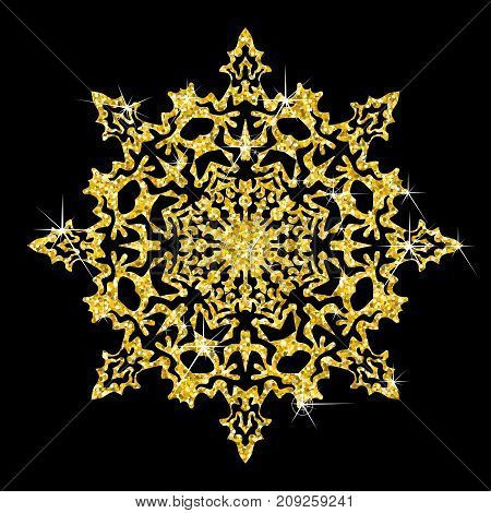 Golden Snowflakes Icon