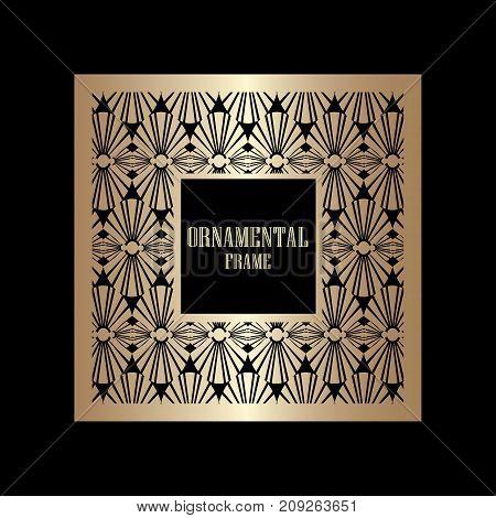 Art Deco Ornamental Vintage Frame. Template For Design. Vector Illustration Eps10
