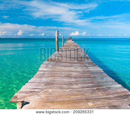 Jetty to the blue Calm Meditation