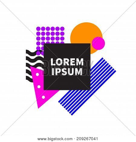Abstract geometric background with black frame. - Stock vector