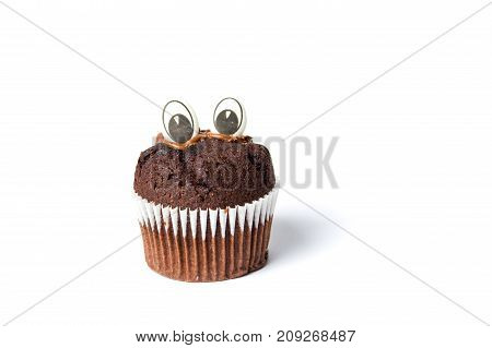 Chocolate Muffin With Edible Eyes