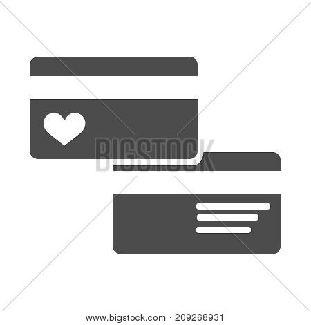 Credit Card Icon illustration flat EPS 10