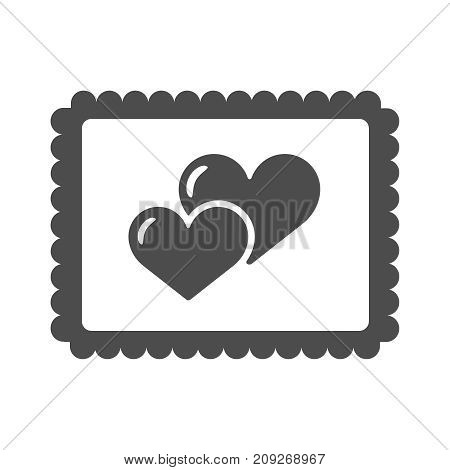 Vector illustration of funky retro airmail envelope with stamp isolated on white background. Flai icon eps10