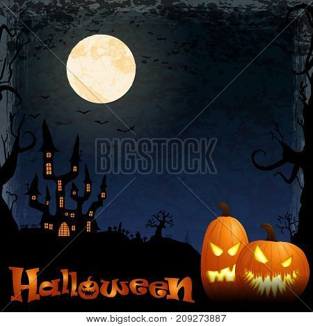 Halloween Scary Castle Background