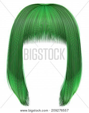 trendy hairs green colors . kare fringe . beauty fashion