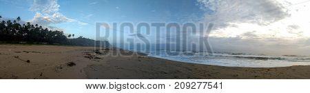 South Cliff Beach Varkala Panorama