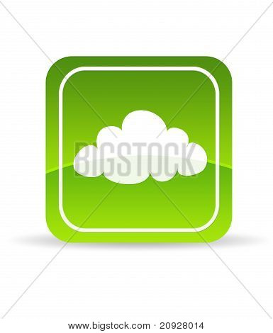 Green Cloud Computing Icon