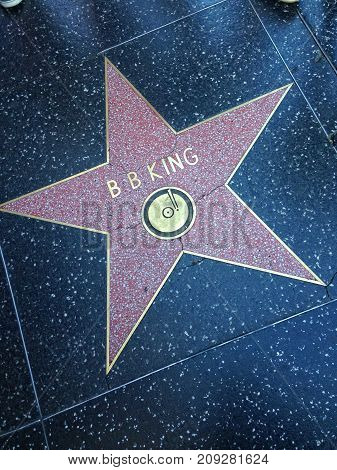 B. B. King Hollywood Walk Of Fame Star.