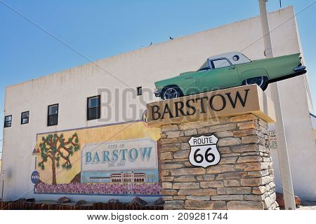 Barstow City Limits Sign
