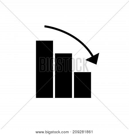 bars graphic descending icon, illustration, vector sign on isolated background