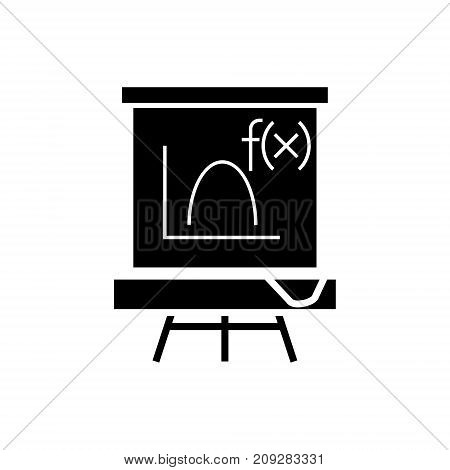 blackboard - mathematics icon, illustration, vector sign on isolated background