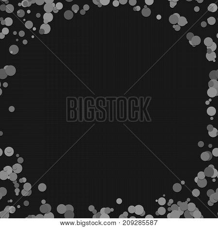 Random dot background - vector illustration from grey dots with blank space in the middle