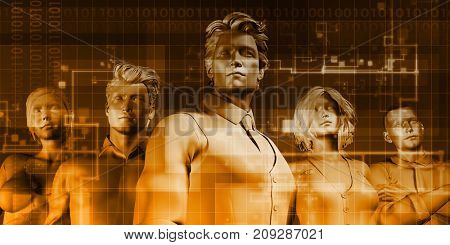 Digital Multimedia Content on the Internet or Web 3D Render