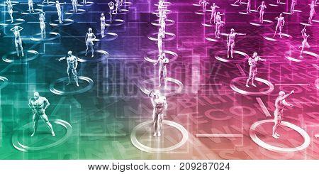 Global Business Logistics Software and Support Art 3D Render