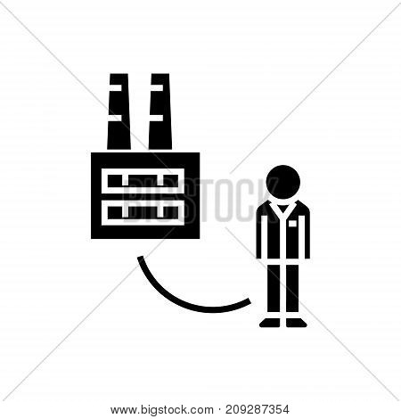 business to customer - consumer icon, illustration, vector sign on isolated background