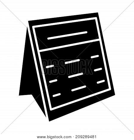 calendar note icon, illustration, vector sign on isolated background