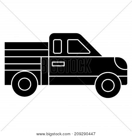 car pickup icon, illustration, vector sign on isolated background
