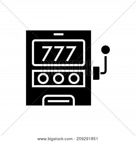 casino machine - luck icon, illustration, vector sign on isolated background