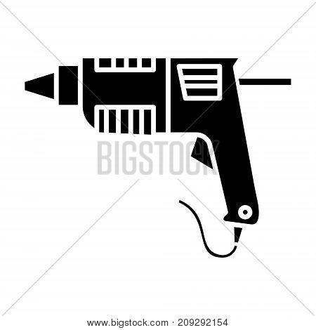 caulk gun - glue gun icon, illustration, vector sign on isolated background