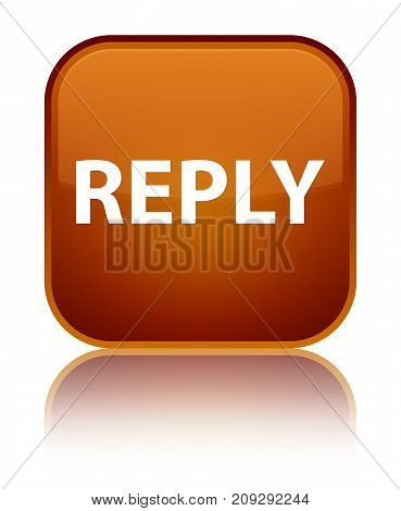 Reply Special Brown Square Button