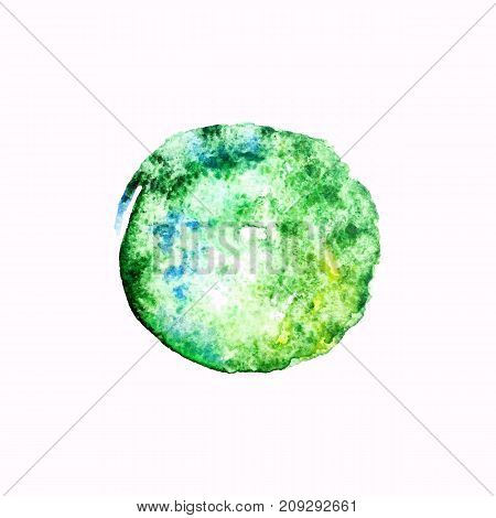 Vector watercolor spot backgraund, abstract texture illustration