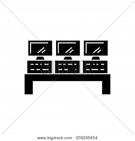 control system icon, illustration, vector sign on isolated background