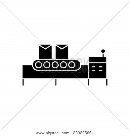 conveyor belt icon, illustration, vector sign on isolated background