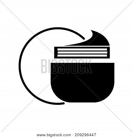 cream tube icon, illustration, vector sign on isolated background