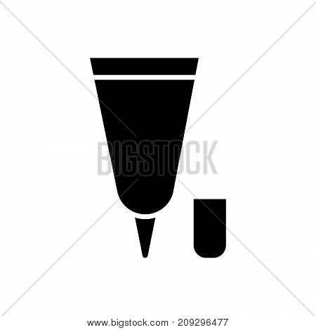 cream tube small icon, illustration, vector sign on isolated background