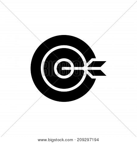 dart board goal icon, illustration, vector sign on isolated background
