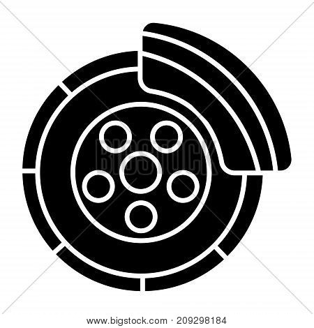 disc brake - car service icon, illustration, vector sign on isolated background