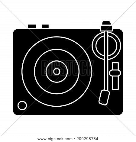dj vinyl - turntable icon, illustration, vector sign on isolated background