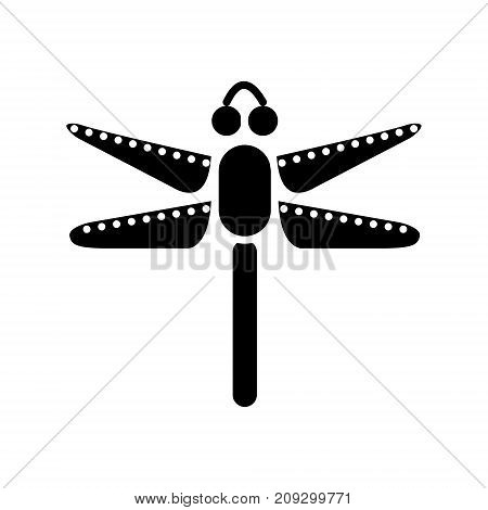 dragonfly icon, illustration, vector sign on isolated background
