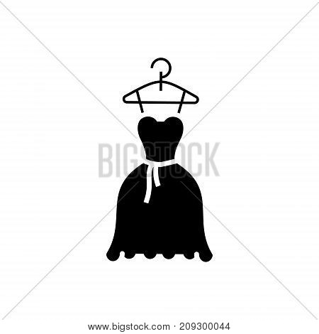 dress wedding - ball gown icon, illustration, vector sign on isolated background