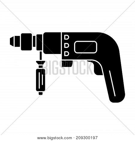 drilling machine - perforator icon, illustration, vector sign on isolated background