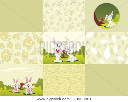 abstract easter day background illustration