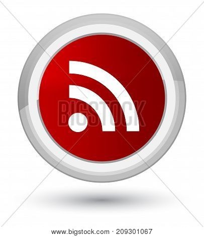 Rss Icon Prime Red Round Button