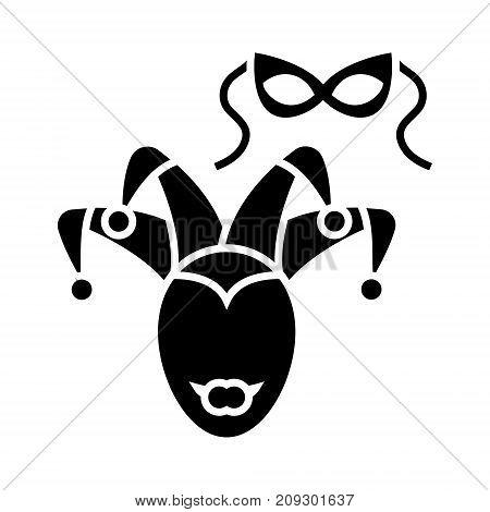 eye mask - masquerade icon, illustration, vector sign on isolated background