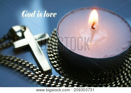 Religious Symbol With God Is Love High Quality