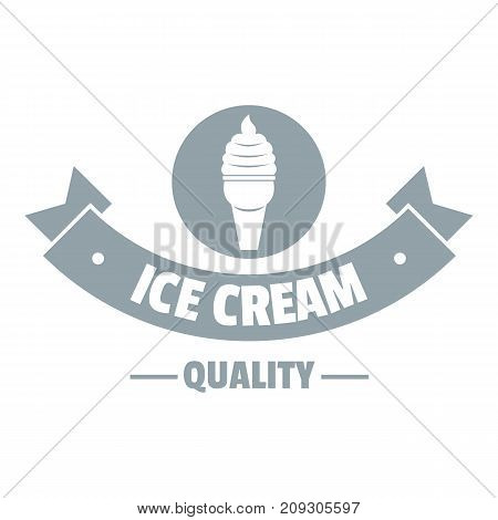 Ice cream logo. Simple illustration of ice cream vector logo for web